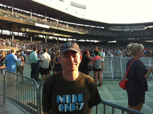 """Hmm, I wonder if they'll do Dirty Frank…"": me soaking up the pre-match atmosphere at Wrigley Field."