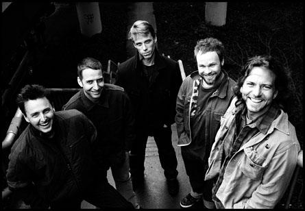 Pearl Jam: (l-r) Mike McCready, Stone Gossard, Matt Cameron, Jeff Ament, Eddie Vedder.